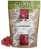 BIO Cranberries getrocknet 500g | Bio Cranberrys aus kontrolliert biologischem Anbau inkl. gratis Ratgeber | hochwertige frische Cranberry Früchte