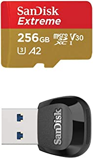 SanDisk Extreme 256GB microSD UHS-I Card with Adapter – 160MB/s with SanDisk..