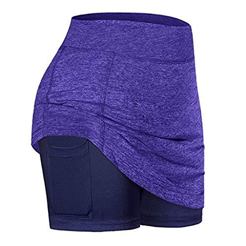 Dainzuy-Hat Damen Sommerkleid lässige Innenshorts Tasche Stretch Sport Fitness Laufen Yoga Tennisrock kurzer Rock Sexy