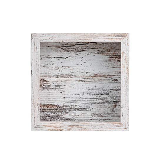 U/K Marco de la Imagen de Madera 3D for llenar la Caja Profunda Marco de Objeto Montaje en la Pared Eco-Friendly Vintage Look Family Frame Frame Desktop 23 x 23 x 6 cm (Color : Gray)