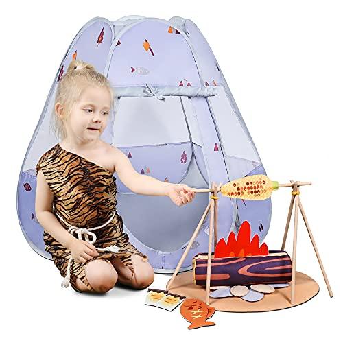 Tumama Juego de Camping para Niños con Tienda,Juegos de imitaciónJuego de rol Juguete para niños, Accesorios para Herramientas de Juguete para Acampar,Juguete para Exteriores Regalo para Niños y Niña