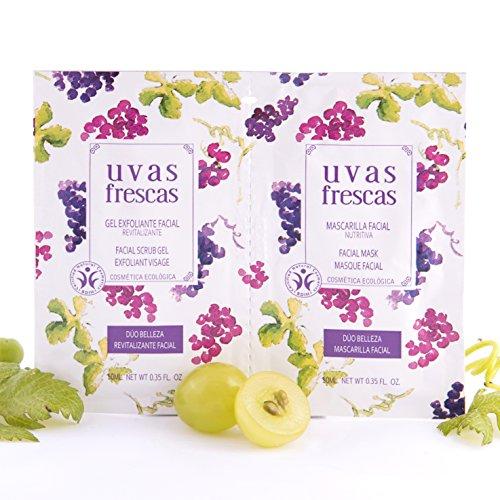 Uvas Frescas Beauty Pack Duo, mit Aloe Vera, Traubenextrakt, Traubenkernöl, Mandelöl, Omega6 und Vitamin E