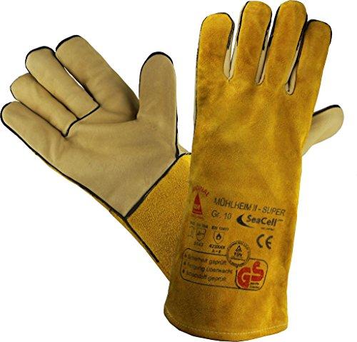 Profi Arbeits-handschuhe Sicherheitshandschuhe für Schweisser MÜHLHEIM-II-SUPER gelb - Größe: 10