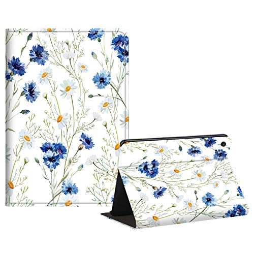 Case for All Kindle Fire 7 Inch Tablet (9th /7th /5th Gen, 2019 2017 2015), AIRWEE PU Leather Fold Protective Cover Case for Amazon Kindle Fire 7 9th Genneration,Fresh Flowers