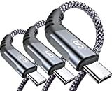 USB Type C Cable 3.1A Fast Charging [3Pack,10ft+6.6ft+3.3ft],Sweguard USB-A to USB-C Charger Nylon Braided Cord for Samsung Galaxy S21 S20 S10 S9 S8 Plus,Note 20 10 9 8 7,A71 A51 A32,LG,Moto,PS5-Grey