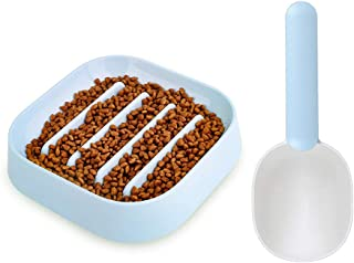 Dog Slow Feeder Bowl Anti-Choke Prevent Bloating Non Slip Food Water Bowl Interactive Fun Feeder with Muti-Functional Food...