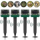[4 Stück]Solar Maulwurfabwehr, Ultrasonic Solar Maulwurfschreck, Maulwurfschreck mit IP56 Wasserdicht, Maulwurfbekämpfung, Wühlmausschreck, Mole Repellent, Schädlingsbekämpfung für Den Garten