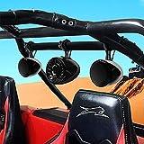Aileap M600X Bass Motorbike Audio System ATV UTV Roll Cage Bar Bluetooth MP3 Radio con Amplificador de 2.1 Canales, subwoofer Impermeable de 5'y Dos Altavoces estéreo de Rango Completo de 4.5'