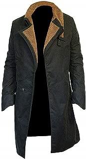 Ryan Gosling Blade 2049 Shearling Trench Coats with Artificial Fur    Halloween Superhero Costume Cosplay (XXS - 4XL)