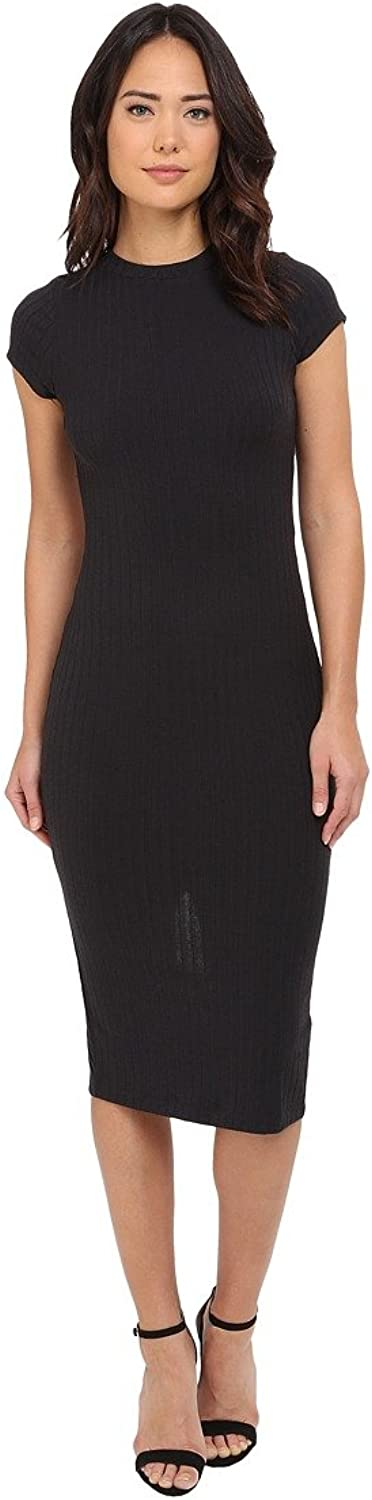 Free People Womens Ribbed Knit Open Back Maxi Dress