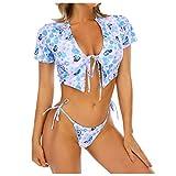 Traje de Baño Bikini Mujer 2021 Bañador Push Up con Relleno Tirantes Ajustables Dos Piezas Tops de Bikinis Moda Estampado Baño Ropa de Playa Vacaciones
