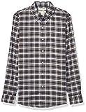 Goodthreads Slim-fit Long-Sleeve Stretch Oxford Shirt (All Hours) Camisa abotonada, Purple White Check, XXL