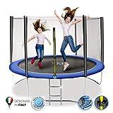 ym trampolino elastico da giardino tappeto elastico esterno sport rete yourmove (diametro 251 cm)
