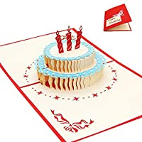 Falshyvuk 1X 3D グリーティングカード 誕生日カード 結婚祝いポップアップカード (C)