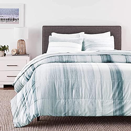 Laken 7-Piece Blue Queen Comforter Set