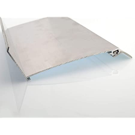 Wandanschlussprofil f/ür Stegplatten Aluminium Pressblank 6100mm