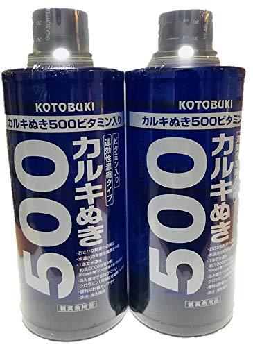 寿工芸 カルキぬき 500 ビタミン入り 500ml×2本 (まとめ買い)