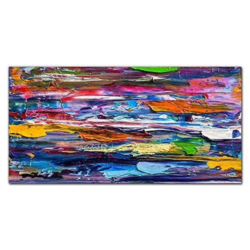 Coloray Obraz Na Szkle Akrylowym Nadruk 120x60cm Plexiglass Dekoracja Do Salonu Dekoracja Wnętrza Ozdoba Ścienna Obraz Akrylowy - Kolorowe farby