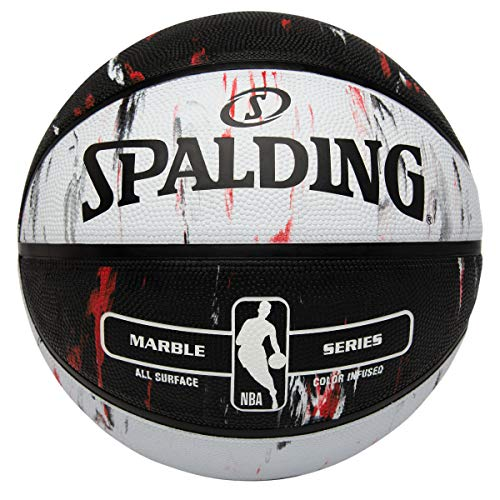 Spalding NBA Marble Series Red/Black/White Outdoor Basketball 29.5'