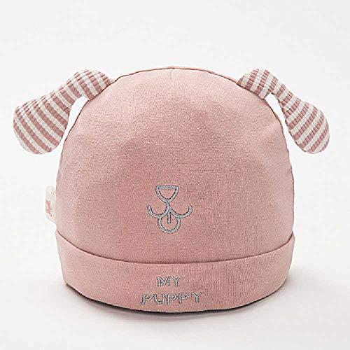 TUOLUO Stickmuster Baby Mütze Hut Kleinkind Junge Mädchen Niedlichen Schlummertrunk Einfarbig Hochwertige Baumwolle Reifenkappe Warm Im Herbst XS/Pink