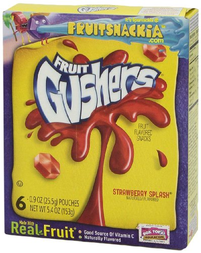 Fruit Gushers Fruit Snacks - Strawberry Splash - 5.4 Ounces (6 Pouches)
