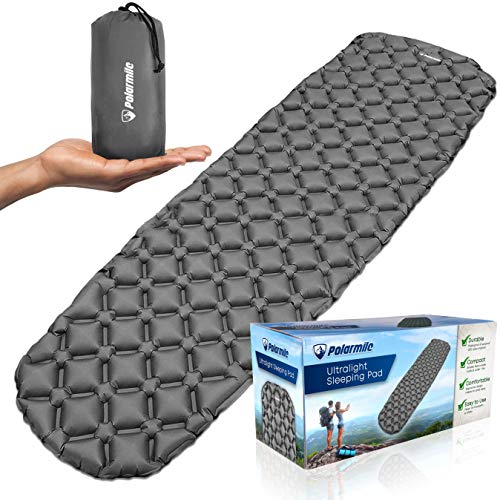 Polarmile Ultralight Sleeping Pad – Durable, Inflatable & Ultra-Compact – Best Sleeping Pads for...