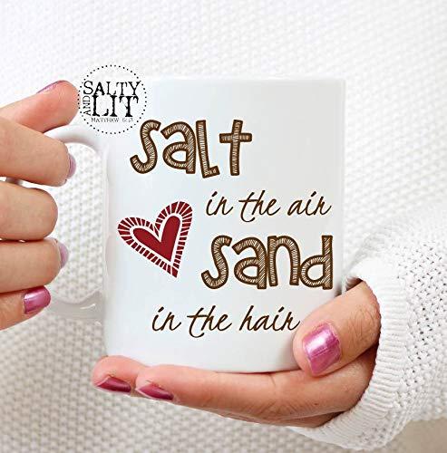 Zout in de lucht zand in de HairBeach mok Lover Koffie mok bumbeachfun zeggen humoristische mok Gift ideafriendship mok