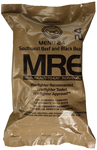 Southwest Beef and Black Beans MRE Meal - Genuine US Military Surplus Inspection Date 2020 and Up