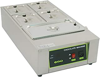 F-JX Chocolate Melting Furnace, Commercial Baking Thermostat, Stainless Steel Chocolate Heating Pot, 5 Cylinders