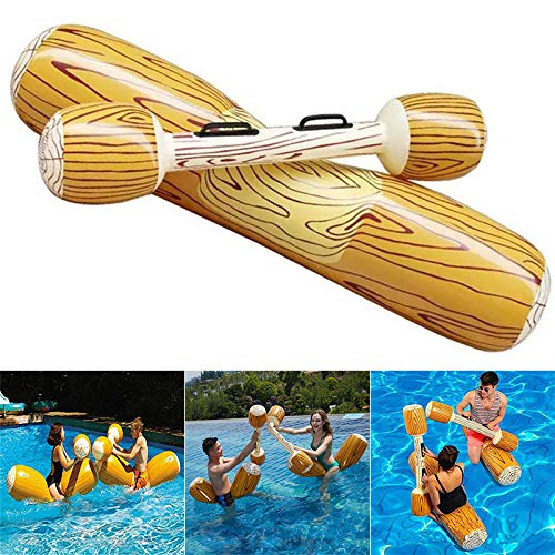 DirkFigge schwimmteich, Pool Spielzeug, aufblasbare Pool, 1 Satz aufblasbare schwimmbecken schwimm Spielzeug holzmaserung Reihe Sitz für Kind Erwachsene.