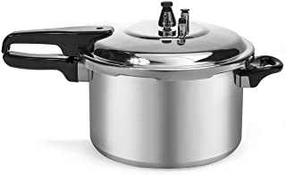 Barton 6-Quart Aluminum Pressure Cooker Stovetop Fast Cooker Pot Pressure Regulator Cooking Steam Release Valve 6QT