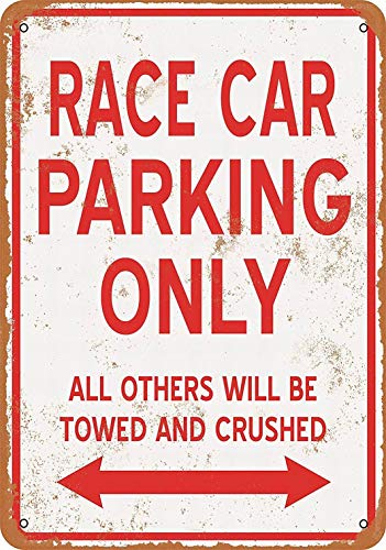 Fsdva 8 x 12 Metal Sign - Race CAR Parking ONLY - Vintage Wall Decor Home Decor