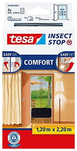 tesa Insect Stop Comfort Red Anti Mosquitos Puerta Plata - Mosquiteras (2200 x 60 x 1200 mm, Plata, 454 g)