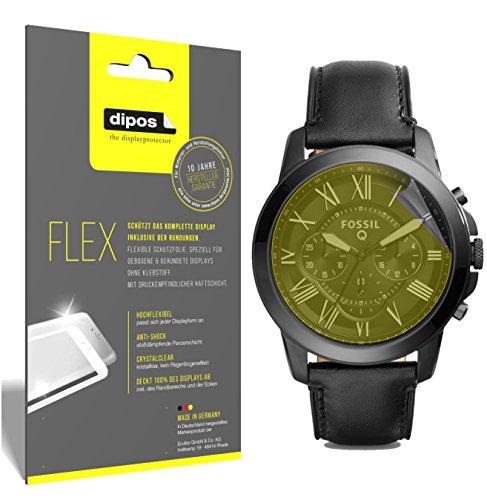 dipos I 3X Schutzfolie 100prozent kompatibel mit Fossil Q Grant Folie (Vollständige Bildschirmabdeckung) Bildschirmschutzfolie
