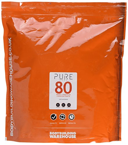 Bodybuilding Warehouse Pure Whey Protein Concentrate 80 Powder Unflavoured 2 kg