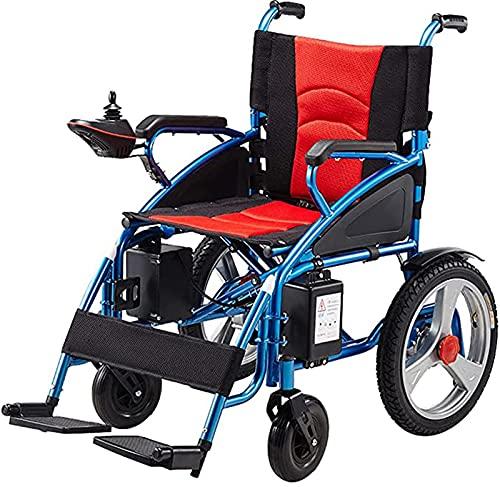 BSJZ Silla de Ruedas eléctrica Plegable Todo Terreno de Doble Motor, sillas de Ruedas eléctricas motorizadas de Aluminio Ayudas de Movilidad para Viajes, admite hasta 260 ⭐
