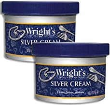 Wright's Silver Cleaner and Polish Cream - 2 Pack - 8 Ounce - Gently Clean and Remove Tarnish Without Scratching