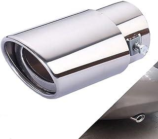 1 Stücke Universal Edelstahl Auto Auspuff Endrohr Schalldämpfer Endrohr Gerade oder gebogene Endrohr Fit Rohre Rohr   Fit Rohr Durchmesser 1,96 bis 2,75 Zoll (5 7cm)