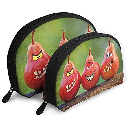 Birnen-Spaß-Lächeln-tragbare Taschen-Make-upbeutel-Kulturbeutel, tragbarer Multifunktionsreisebeutel-Kleiner Make-upkupplungs-Beutel mit Reißverschluss