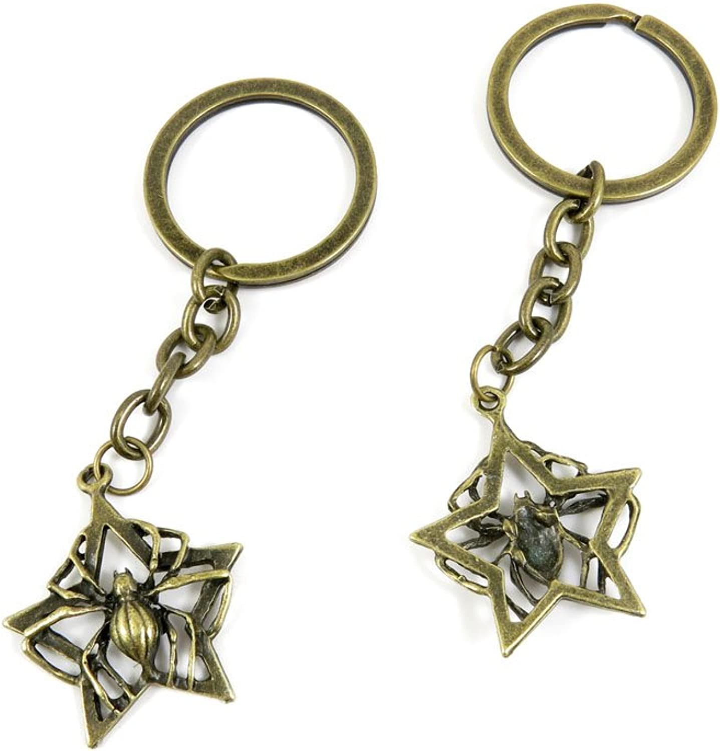 170 Pieces Fashion Jewelry Keyring Keychain Door Car Key Tag Ring Chain Supplier Supply Wholesale Bulk Lots W8MJ5 Spider