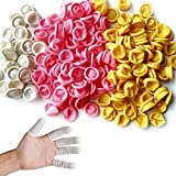 Glittery 220 PCS Disposable Latex Finger Cots,Anti-Static Rubber Fingertips Protective Fin...