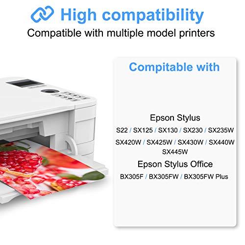 Tinnee - 20 paquetes T1285 - Cartucho de tinta (Non-Original) - Reemplazo para Epson T1281 T1282 T1283 T1284 T1285 - Compatible con Epson SX235W SX130 SX125 SX420W SX425W SX430W SX44440W 45 W.