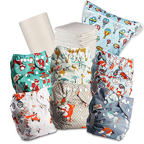 Littles and Bloomz Baby Reusable Pocket Nappy Cloth Diaper, Standard...