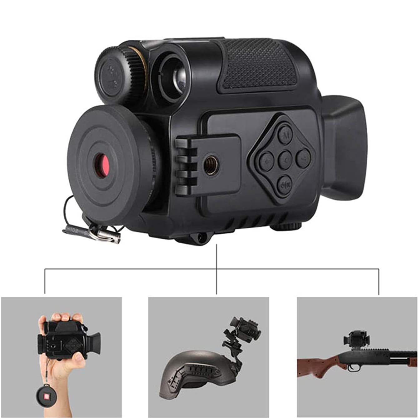 TIAOTIAO Digital Night Vision Sport Action Cameras, 5X Zoom Mini Size NV Infrared Cameras Monocular, for Outdoor Hunting, Bird Watching, Hiking