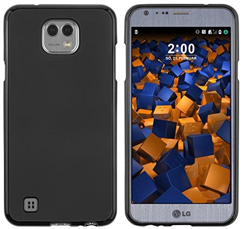 mumbi Hülle kompatibel mit LG X Cam Handy Hülle Handyhülle, schwarz