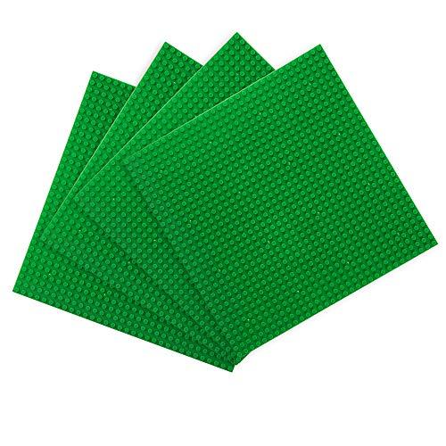 LVHERO 4 Compatible Base Piattaforma per Lego Classic, Giochi Creativi, Giocattoli Educativi (Verde)