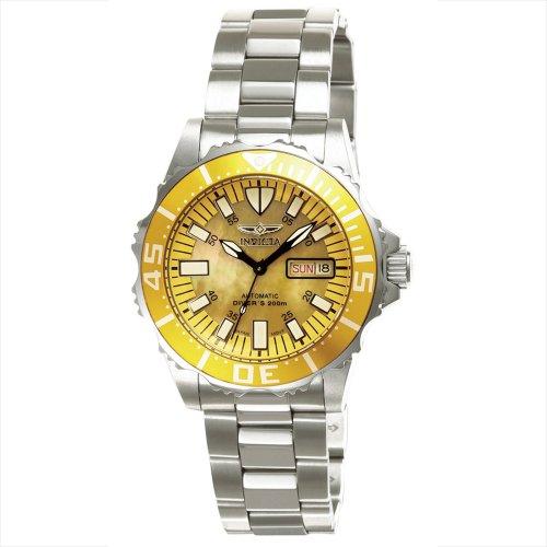 Invicta, Pro Diver Abyss 2942–Reloj analógico con Amarillo Mop Dial y Bisel Amarillo