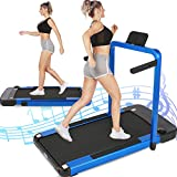 ANCHEER Portable Compact 2-in-1 Home Treadmill with Remote Control, App, LCD, 265 lbs Weight Capacity, Electric Folding Walking & Running Treadmill for Under Desk, 2.25HP