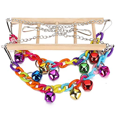 SALUTUYA Birds Ladder Hanging Bridge Swing Tragbare Multifunktions-Hängebrücke (zufällige Farbe) für Ara Wellensittiche