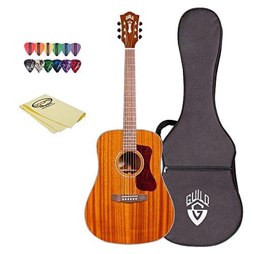 Guild D-120 NAT-KIT-1 Natural Acoustic Dreadnought All Mahogany Guitar